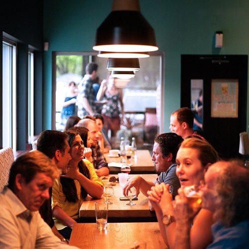 Menschen im Restaurant