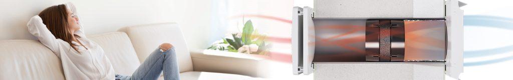 Luftfeuchtigkeit bekämpfen mit dezentraler Lüftungsanlage mit Wärmerückgewinnung