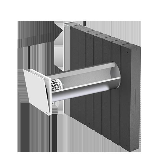 inVENTer-Außenluftdurchlass aV160 ALD Corner