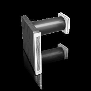 inVENTer-Lüftungssystem iV14-Zero Corner für die Fensterlaibung Außenansicht