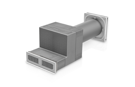 Kompaktlüfter iV-Smart+ mit Nordic-Abschluss Fassadengitter