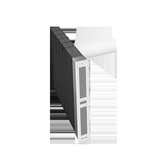 inVENTer-Wandeinbausystem aV100 Corner für die Fensterlaibung Außenansicht